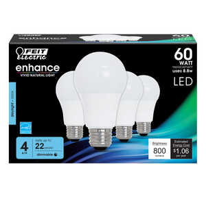 FEIT Electric  9.5 watts A19  LED Bulb  800 lumens 60 Watt Equivalence Daylight  A-Line