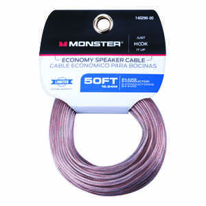Monster Cable  Just Hook It Up  50 ft. L Speaker Cable  AWG