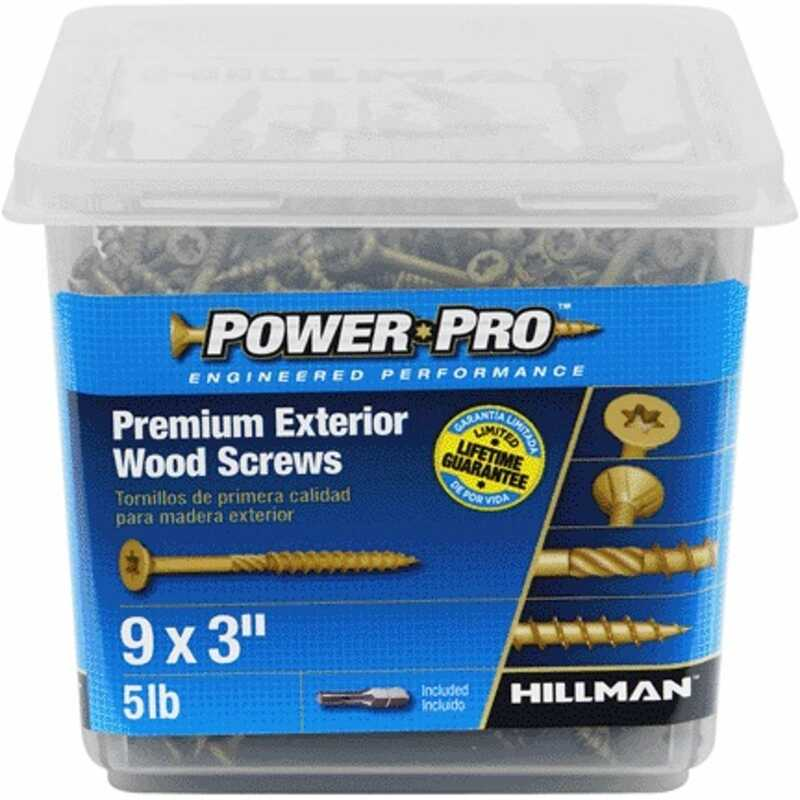 Power Pro  No. 9   x 3 in. L Star  Flat Head Ceramic Coated  Steel  Deck Screws  5 lb. 417 pk
