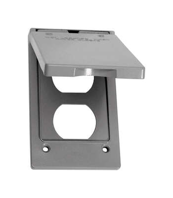 Sigma Electric Rectangle Metal 1 gang Vertical Duplex Cover For Wet Locations