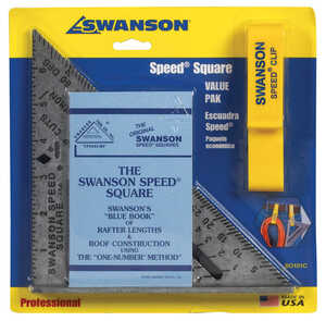 Swanson  7.25 in. L x .875 in. H Aluminum  Silver  Speed Square