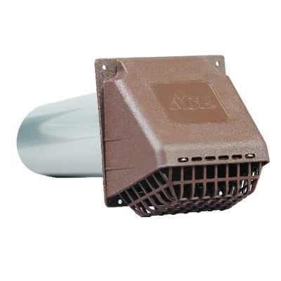 Ace  4 in. W x 6 in. L Brown  Plastic  Dryer Vent Hood