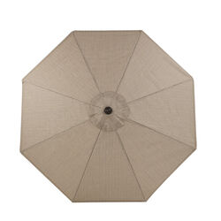 Living Accents  Kensington  9 ft. Tiltable Beige  Market Umbrella