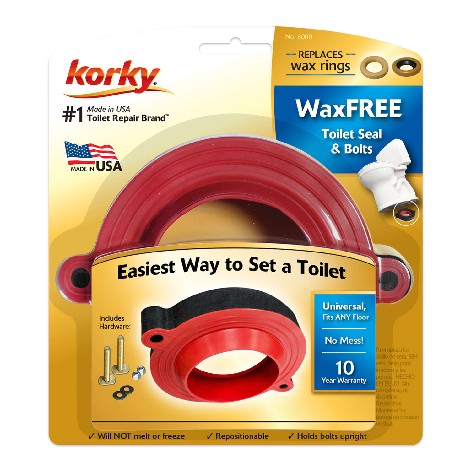 Korky  Toilet Seal  Rubber and Foam