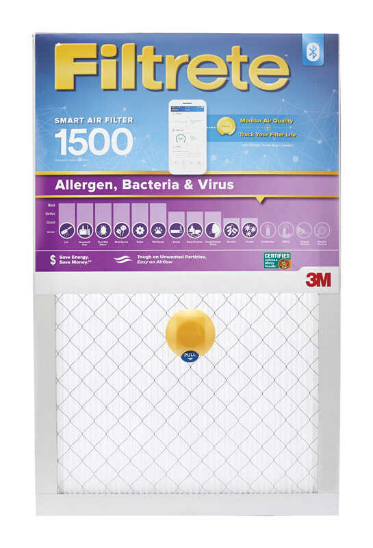 3M  Filtrete  20 in. H x 20 in. W x 1 in. D 12 MERV Smart Air Filter