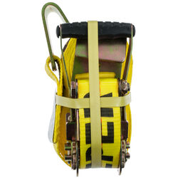 Keeper  2 in. W x 27 ft. L Yellow  Tie Down w/Ratchet  3333 lb. 1 pk