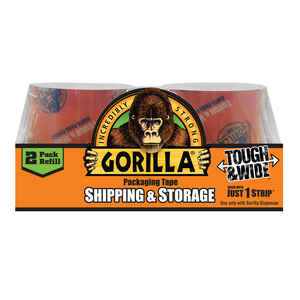 Gorilla  2.88 in. W x 60 yd. L Tape  Clear