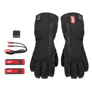Milwaukee  REDLITHIUM  L  Polyester  USB Heated  Black  Gloves