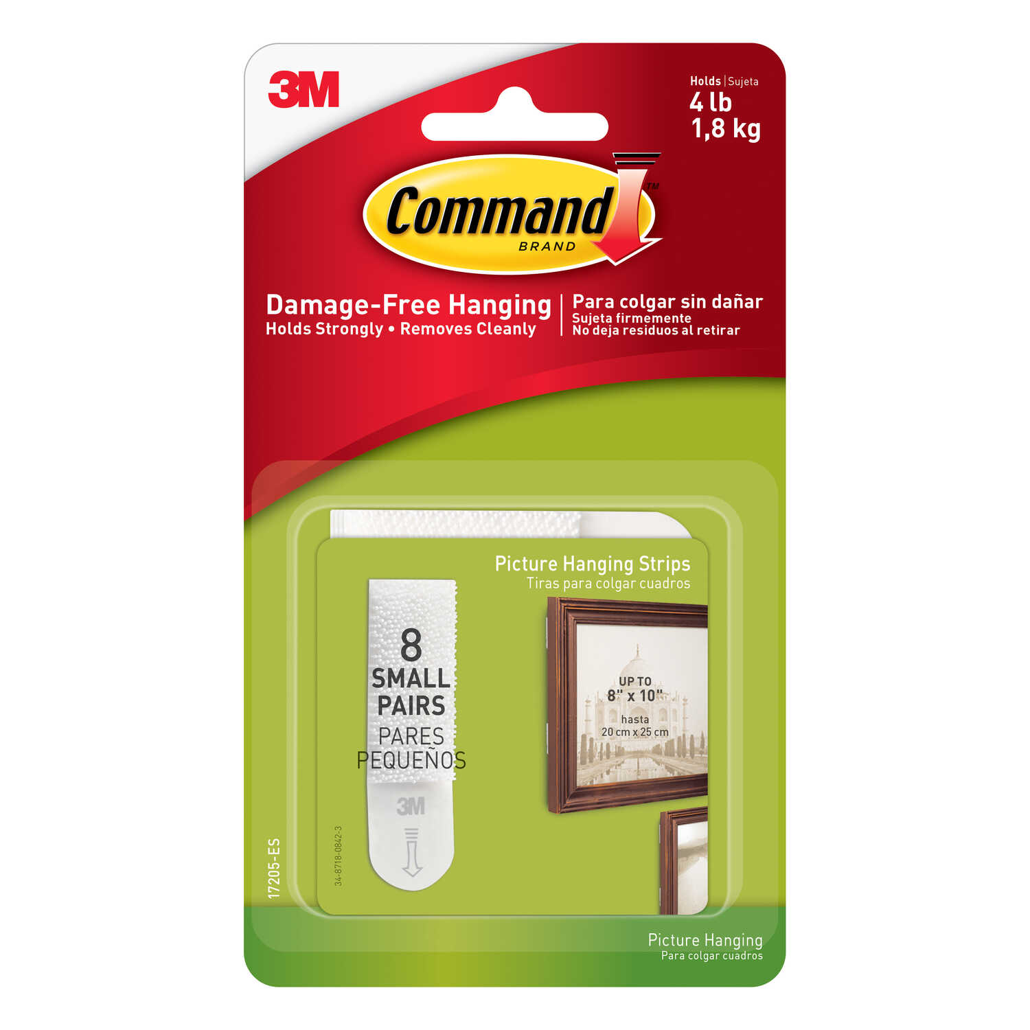 3M  Command  White  Foam  4 lb. Picture Hanging Strips  16 pk