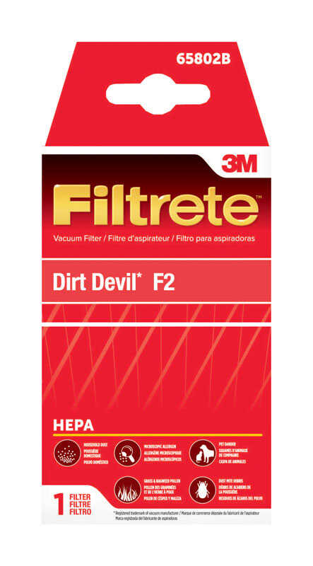 3M  Filtrete  Vacuum Filter  For Dirt Devil F2 HEPA 1 pk