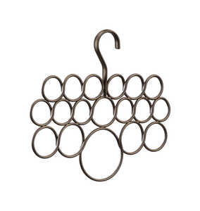 InterDesign  11-1/2 in. H x 9-1/2 in. L x 5 in. W Steel  1 each Scarf Holder