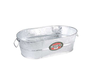 Behrens  10.5 gal. Steel  Tub  Oval