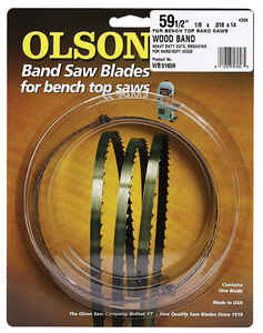 Olson  0.1 in. W x 0.02 in.  x 59.5  L Carbon Steel  Band Saw Blade  14 TPI Hook  1 pk