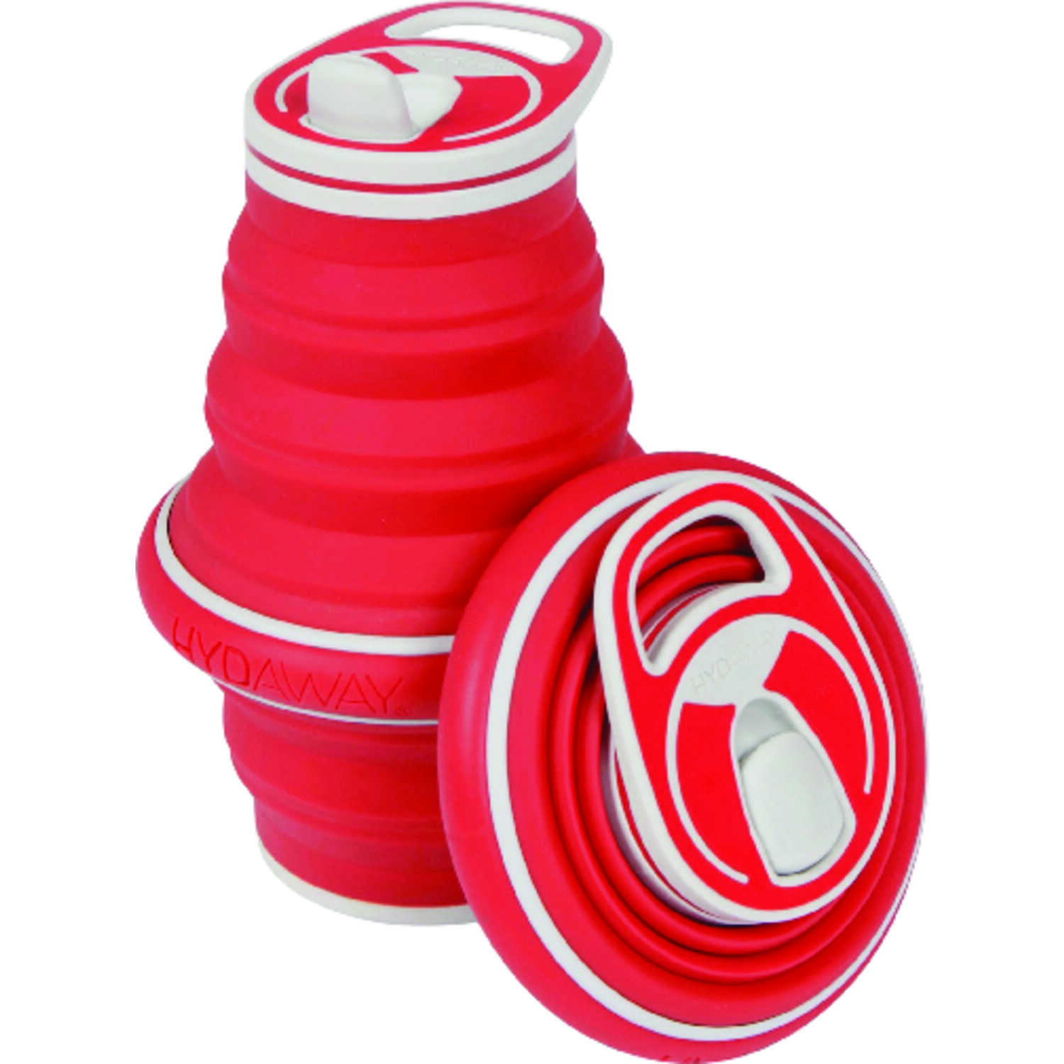 Hydaway  Red  Silicone  Collapsible  BPA Free 21 oz. Water Bottle