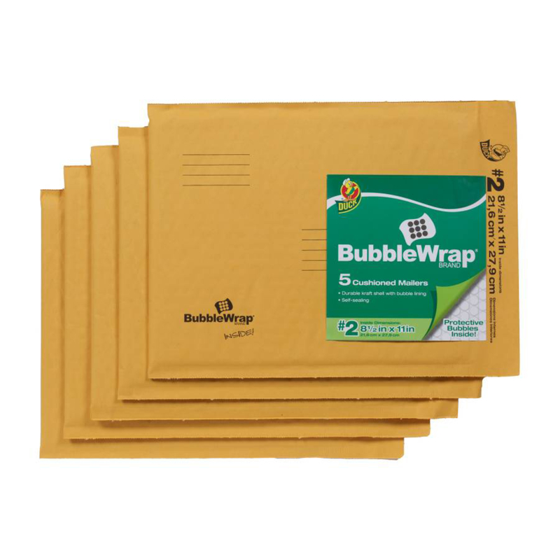 Duck Brand  8.5 in. W x 11 in. L Yellow  5 pk Padded Envelope