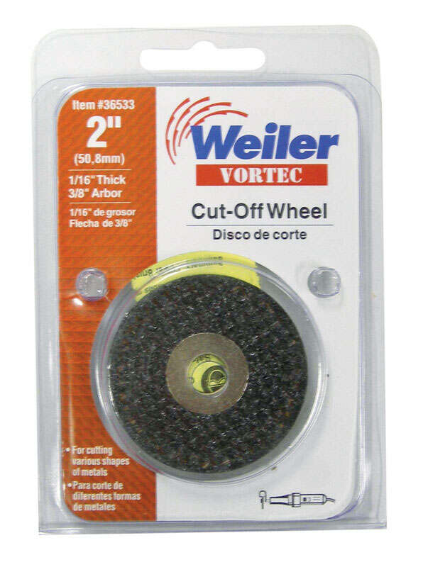 Weiler  Vortec  2 in. Dia. x 3/8 in.  Aluminum Oxide  Cut-Off Wheel  1 pc.