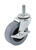 Shepherd 2 in. Dia. Swivel Thermoplastic Rubber Caster 80 lb. 1 pk