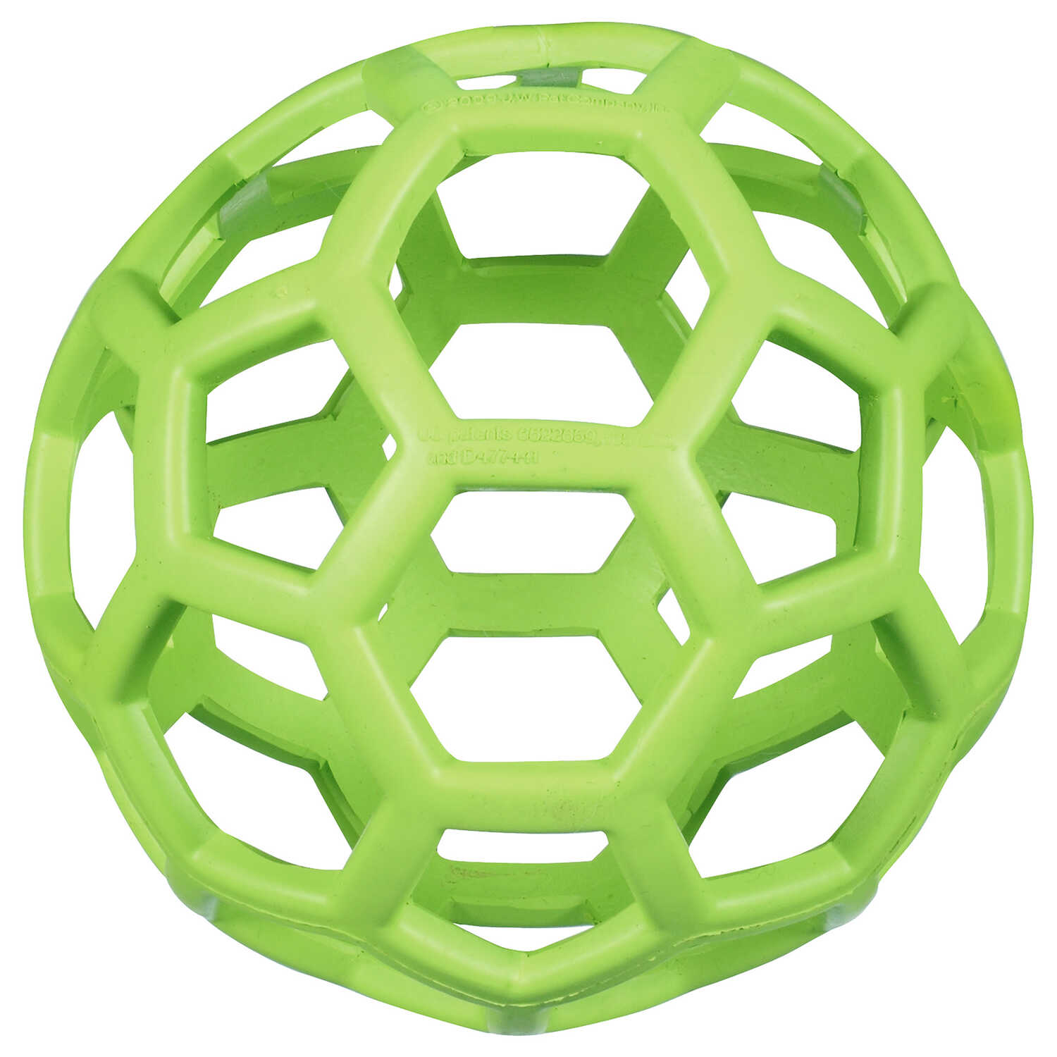 JW Pet  Hol-ee Roller  Green  Hol-ee Roller Ball  Rubber  Treat Holding Toy  Large