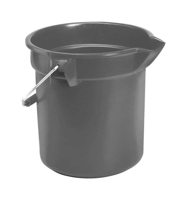 Rubbermaid Commercial  10 qt. Utility Bucket  Gray