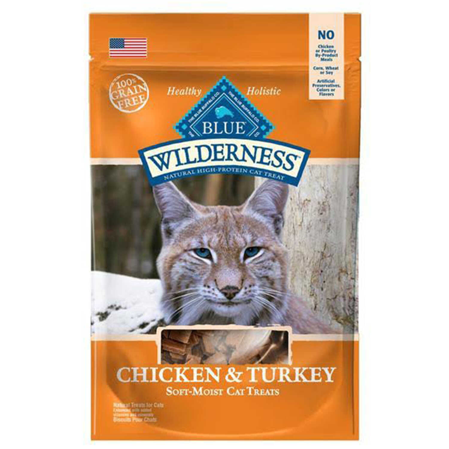Blue Buffalo  Blue Wilderness  Chicken and Turkey  Cat  Grain Free Treats  1 pk 2 oz.