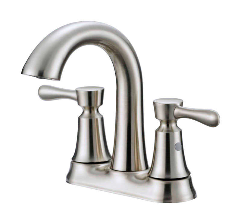 OakBrook  Verona  Verona  Two Handle  Lavatory Pop-Up Faucet  4 in. Brushed Nickel