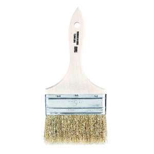 Linzer  4 in. W Flat  White China Bristle  Paint Brush