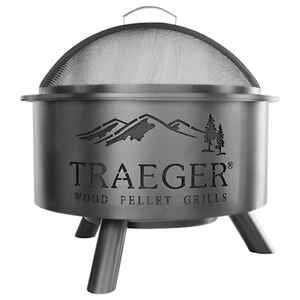 Traeger  Open Flame  Wood Pellet  Fire Pit/Grill  25 in. H x 26 in. W x 26 in. D Metal