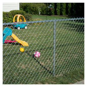 YardGard  66 in. H 16 Gauge Steel  Chain Link Fence Line Post