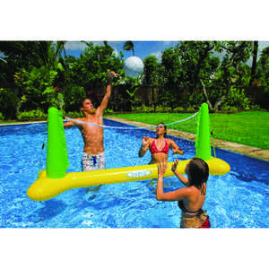 Intex  Multicolored  Vinyl  Inflatable Basketball/Vollyball Pool Game