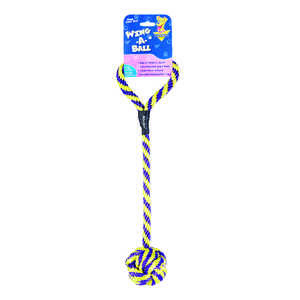 Booda  Yellow  Wing-a-Ball  Polypropylene  Dog Toy  Large