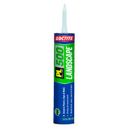 Loctite  PL Landscape Block  Synthetic Rubber  Construction Adhesive  28 oz.