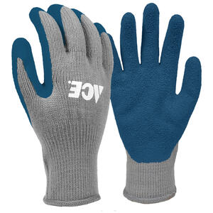 Ace  M  Latex Coated  Winter  Blue/Gray  Gloves