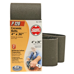Shopsmith  36 in. L x 4 in. W Ceramic  Sanding Belt  120 Grit Fine  1 pc.