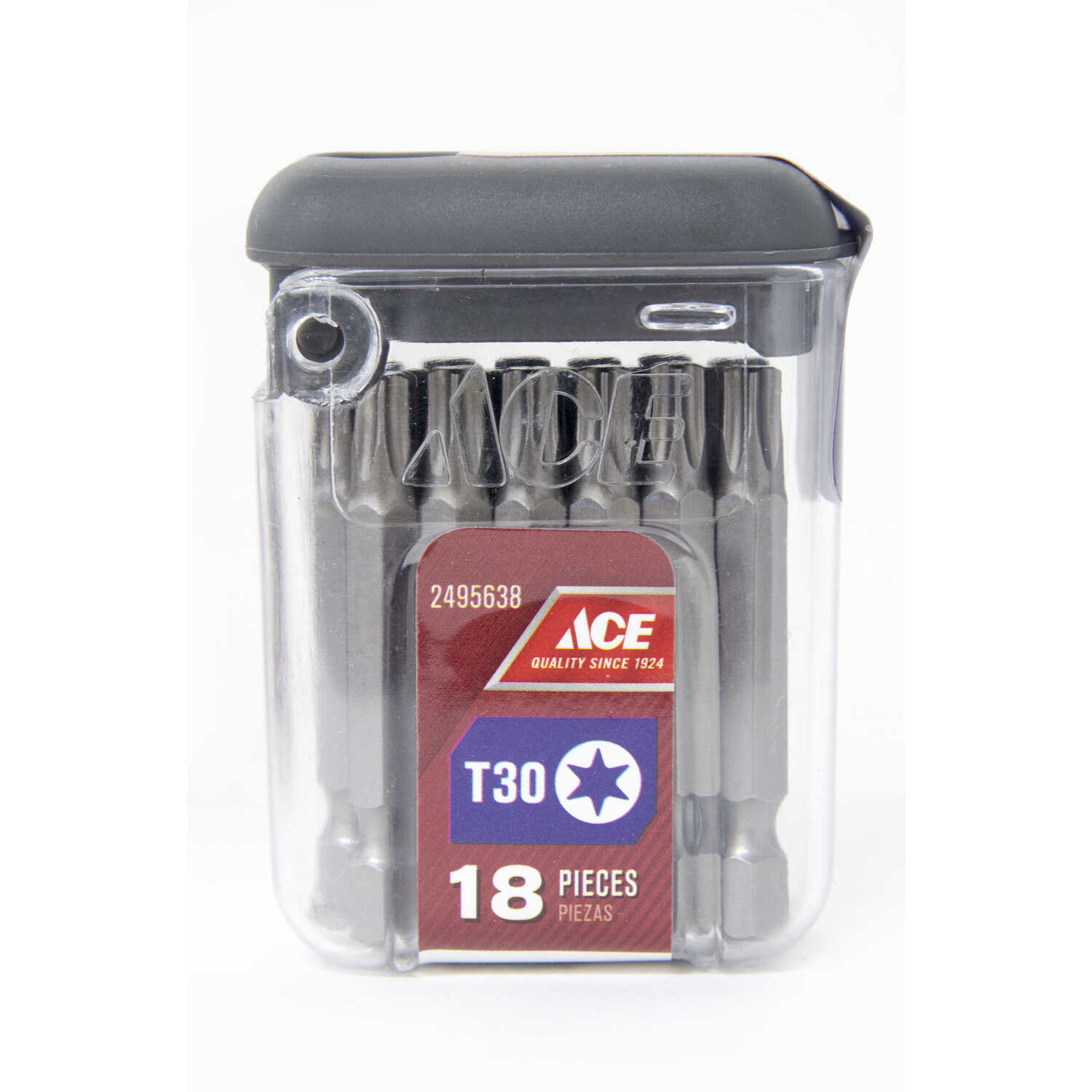 Ace  Torx  T30   x 2 in. L Screwdriver Bit  S2 Tool Steel  1/4 in. Quick-Change Hex Shank  18 pk