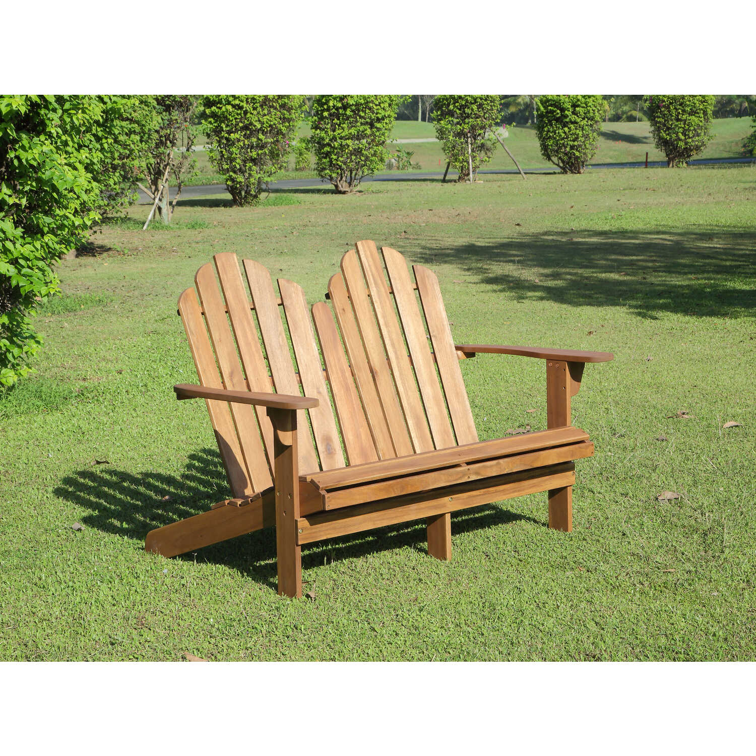 Linon Home Decor  Tahoe  Adirondack  Patio Bench  Wood  37.99 in. H x 52.36 in. L x 37.4 in. D