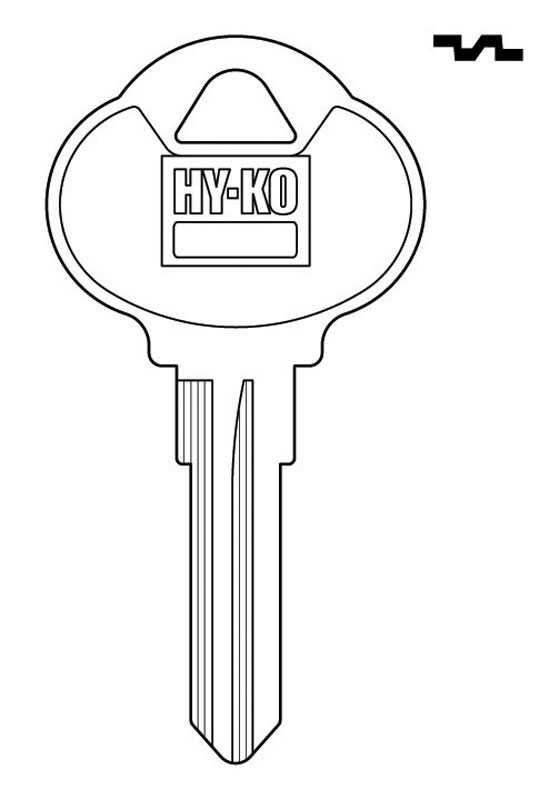 Hy-Ko  Automotive  Key Blank  EZ# CLB5  Double sided