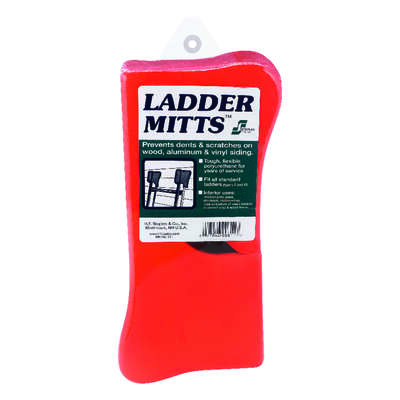 Staples Polyurethane Red Ladder Mitts 1 pk