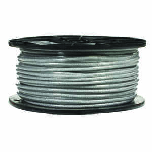 Campbell Chain  Clear Vinyl  Galvanized Steel  3/32 in. Dia. x 250 ft. L Aircraft Cable