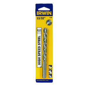 Irwin  13/32 in.  x 5-1/4 in. L High Speed Steel  Drill Bit  1 pc.