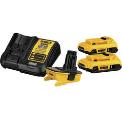 DeWalt XR 20 volt Lithium-Ion Battery Charger Kit 4 pc.