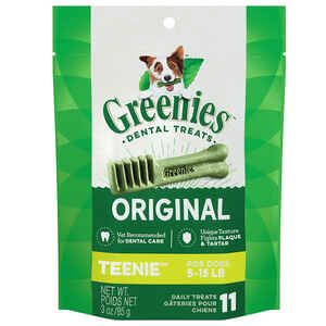 Greenies  Teenies  Original  Dog  Dental Stick  1 pk 3 lb.