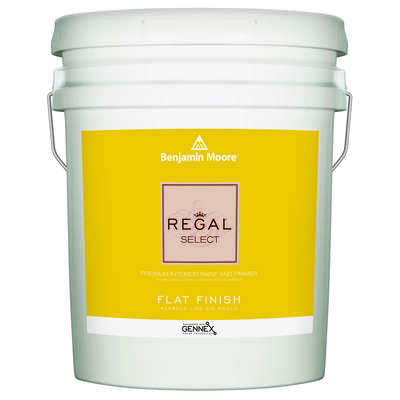 Benjamin Moore  Regal Select  Flat  Base 1  Paint and Primer  Interior  5 gal.