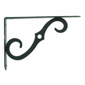 Ace  Black  Steel  Shelf Support  12 Ga. 8 in. L 80 lb.