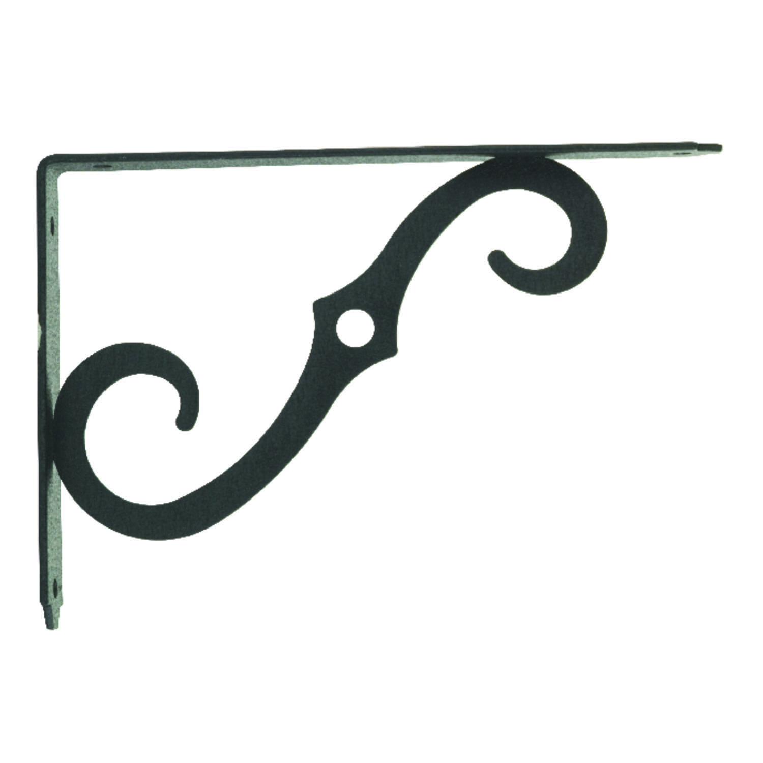 Ace  Black  Steel  Shelf Support  8 in. L 80 lb.