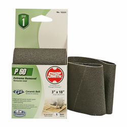Shopsmith  18 in. L x 3 in. W Ceramic  Sanding Belt  60 Grit Coarse  1 pc.