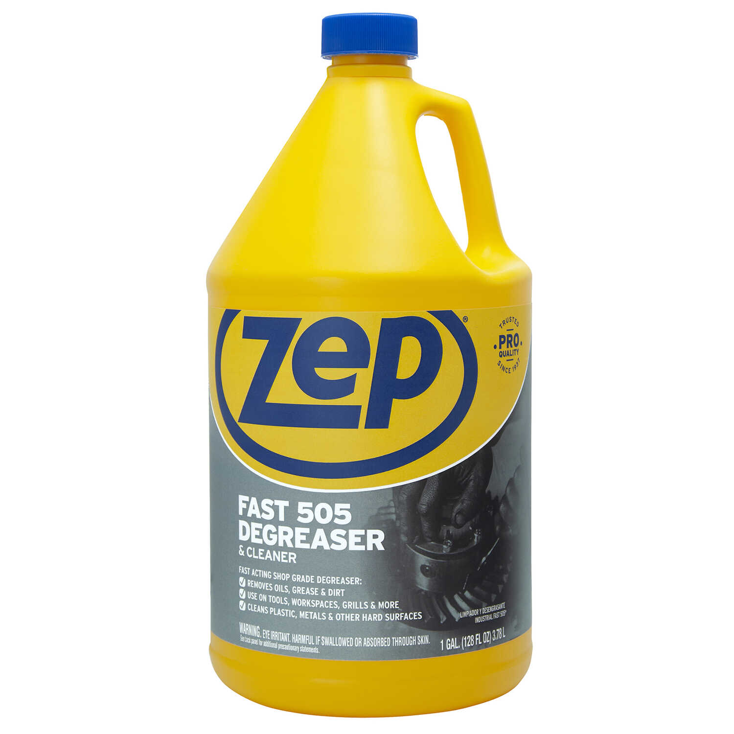 Zep  Fast 505  Lemon Scent Cleaner and Degreaser  128 oz. Liquid