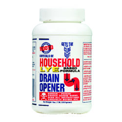 Rooto Household Lye Based Crystals Drain Opener 1 lb.
