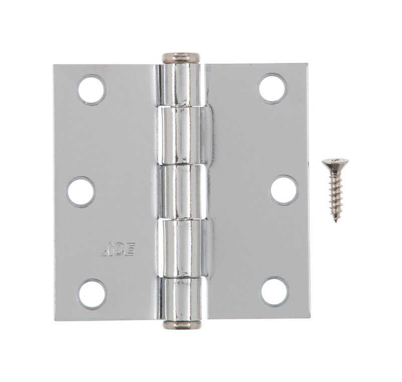 Ace  3 in. L Chrome  Residential Door Hinge  1 pk