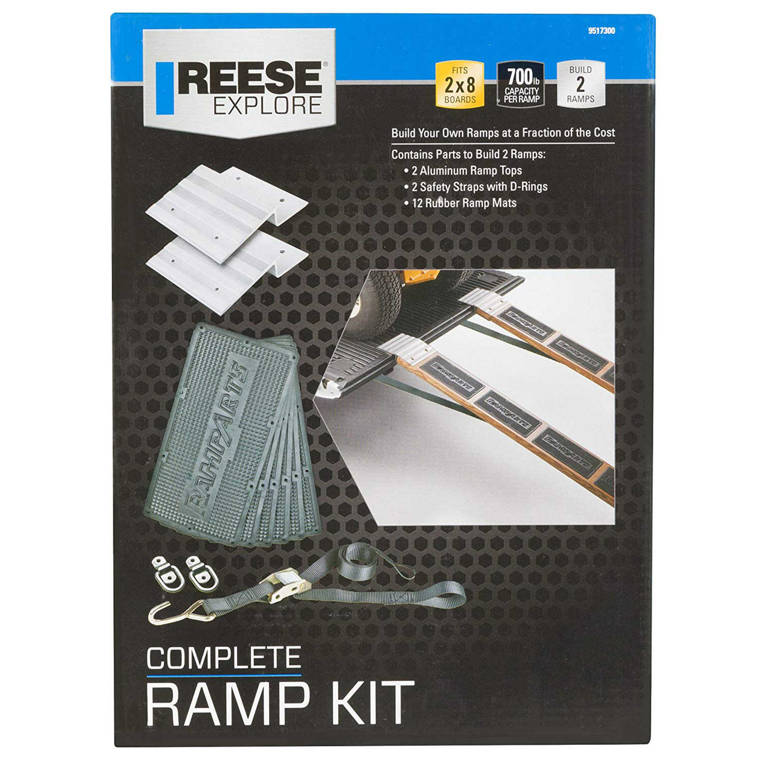 Reese  Manual  Automotive Ramp Top Kit  700 lb.