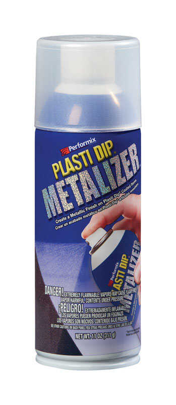 Plasti Dip  Metalizer  Flat/Matte  Silver  Multi-Purpose Rubber Coating  11 oz